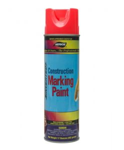 Aervoe Construction Marking Paint Red 17 oz Can