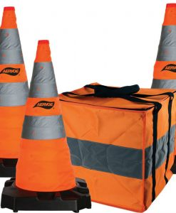 "28"" Collapsible safety cone kit 3 cone"