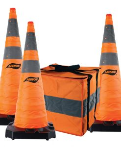"36""heavy duty collapsible safety cones kits"