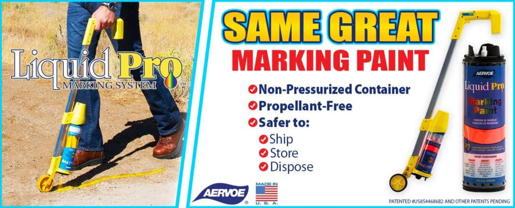Liquid Pro Marking Paint system sign